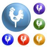 Vettore dell'insieme delle icone del bastone di Candy royalty illustrazione gratis