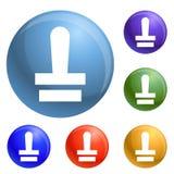 Vettore dell'insieme delle icone del bollo illustrazione di stock