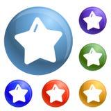 Vettore dell'insieme delle icone di natale della stella illustrazione vettoriale