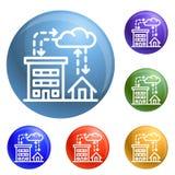 Vettore dell'insieme delle icone di piovosità della città royalty illustrazione gratis
