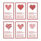 Vettore dell'insieme di carta di giorno di biglietti di S. Valentino royalty illustrazione gratis
