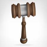 Vettore dell'oggetto isolato martelletto di legno Fotografia Stock