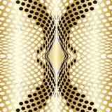Vettore dell'oro di Dots Background Immagini Stock Libere da Diritti