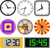 Vettore dell'orologio di parete Fotografia Stock