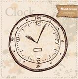 Vettore dell'orologio disegnato a mano Illustrazione Vettoriale