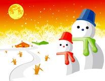 Vettore dell'uomo della neve Immagini Stock