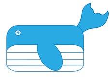 Vettore della balena Immagine Stock