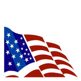 Vettore della bandiera americana Fotografia Stock Libera da Diritti