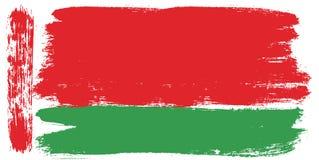 Vettore della bandiera della Bielorussia dipinto a mano con la spazzola arrotondata Immagini Stock