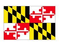 Vettore della bandierina della condizione del Maryland Fotografie Stock