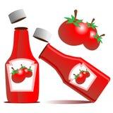 Vettore della bottiglia di ketchup del pomodoro Immagini Stock Libere da Diritti