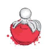 Vettore della bottiglia di profumo Stampa d'avanguardia Modo & stile Profumo Acquerello del profumo Immagini Stock Libere da Diritti