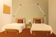 Vettore della camera da letto Immagini Stock