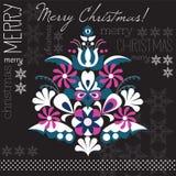 Vettore della carta dell'albero di Natale Immagine Stock Libera da Diritti