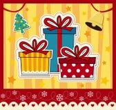 Vettore della cartolina di Natale Fotografia Stock