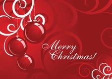 Vettore della cartolina di Natale Immagine Stock