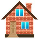 Vettore della casa con mattoni a vista Immagine Stock