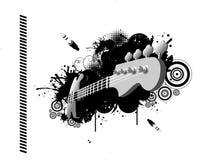 Vettore della chitarra Immagini Stock