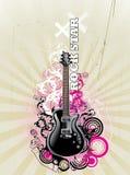 Vettore della chitarra della roccia Fotografie Stock Libere da Diritti