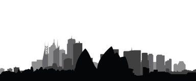 Vettore della città di Sydney dell'orizzonte illustrazione di stock