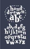 Vettore della fonte allegra moderna e dell'alfabeto illustrazione di stock