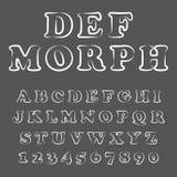 Vettore della fonte allegra moderna e dell'alfabeto royalty illustrazione gratis
