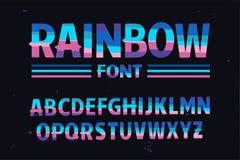 Vettore della fonte variopinta stilizzata Rainbow Fotografie Stock Libere da Diritti