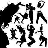 Vettore della gente di Dancing Immagini Stock