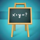 Vettore della lavagna con x+y=? testo Fotografia Stock Libera da Diritti