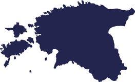 Vettore della mappa dell'Estonia Immagine Stock Libera da Diritti