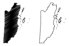 Vettore della mappa di Belize Immagini Stock