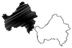 Vettore della mappa di Brjansk Oblast Royalty Illustrazione gratis