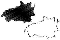 Vettore della mappa di Ivanovo Oblast Illustrazione Vettoriale