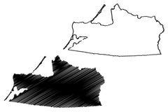 Vettore della mappa di Kaliningrad Oblast Illustrazione Vettoriale