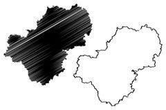 Vettore della mappa di Kaluga Oblast Royalty Illustrazione gratis