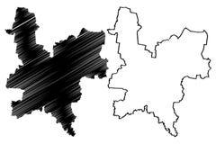 Vettore della mappa di Kirov Oblast Royalty Illustrazione gratis