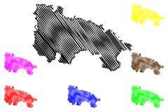 Vettore della mappa di La Rioja Royalty Illustrazione gratis
