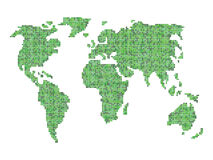 Vettore della mappa di mondo Fotografie Stock