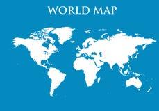 Vettore della mappa di mondo Immagini Stock Libere da Diritti