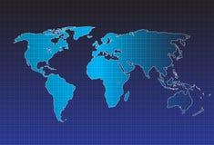 Vettore della mappa di mondo, concetto di InfoGraphic, mappa piana della terra per il sito Web, rapporto annuale, illustrazione d illustrazione vettoriale