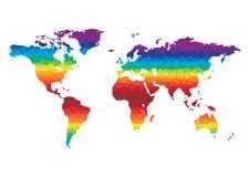 Vettore della mappa di mondo del poligono Fotografie Stock Libere da Diritti