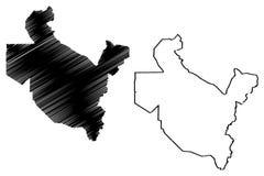 Vettore della mappa di Saladin Governorate royalty illustrazione gratis