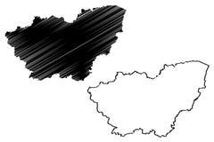 Vettore della mappa di South Yorkshire royalty illustrazione gratis