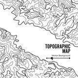 Vettore della mappa topografica di contorno Contesto ondulato di geografia Concetto del grafico di cartografia illustrazione di stock