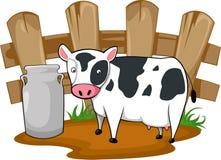 Vettore della mucca del fumetto dell'illustrazione fotografia stock