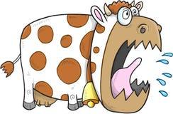 Vettore della mucca pazza Fotografia Stock Libera da Diritti