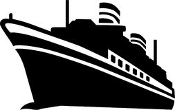 Vettore della nave da crociera royalty illustrazione gratis