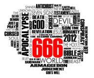 Vettore della nube di 666 parole Fotografie Stock Libere da Diritti