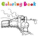 Vettore della pagina di coloritura del treno Immagine Stock