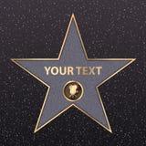 Vettore della passeggiata di fama della celebrità dello star di Hollywood dorato Immagine Stock